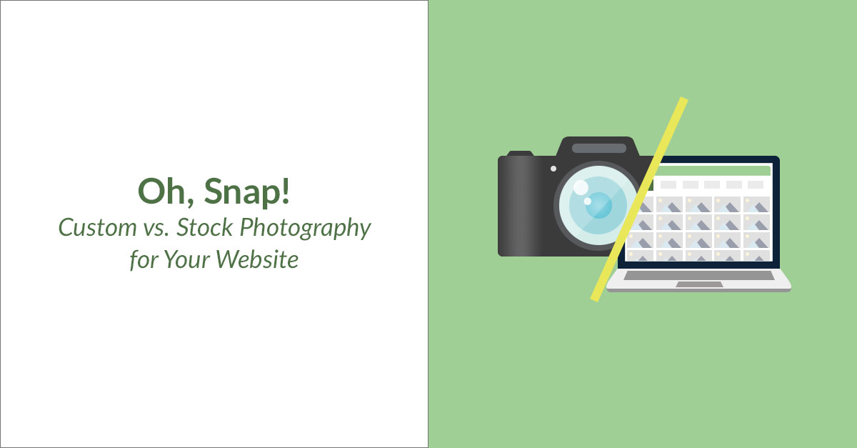 Custom vs. Stock Photography For Your Website