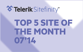 Sitefinity Top 5 Website of the Month