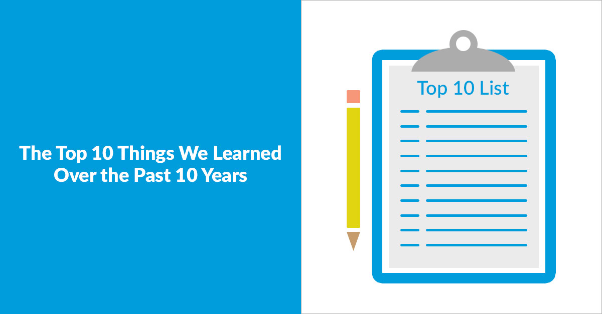 The Top 10 Things We Learned Over the Past 10 Years
