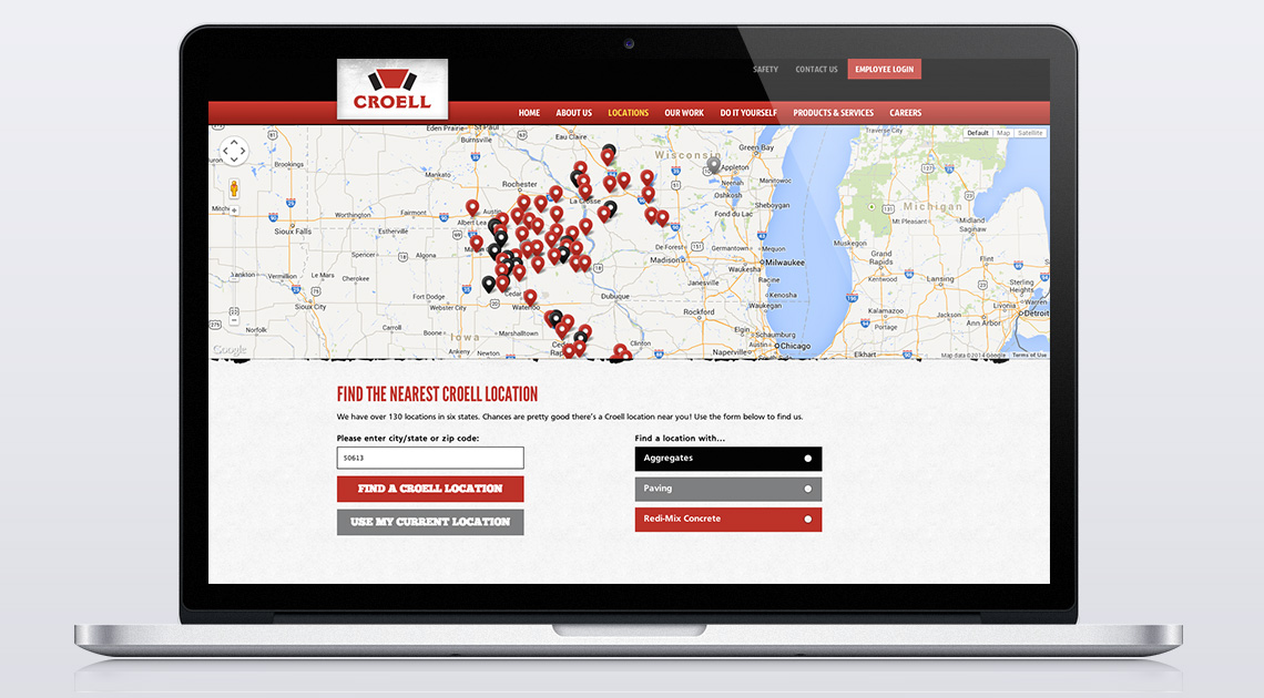Croell Website Custom Locations Feature
