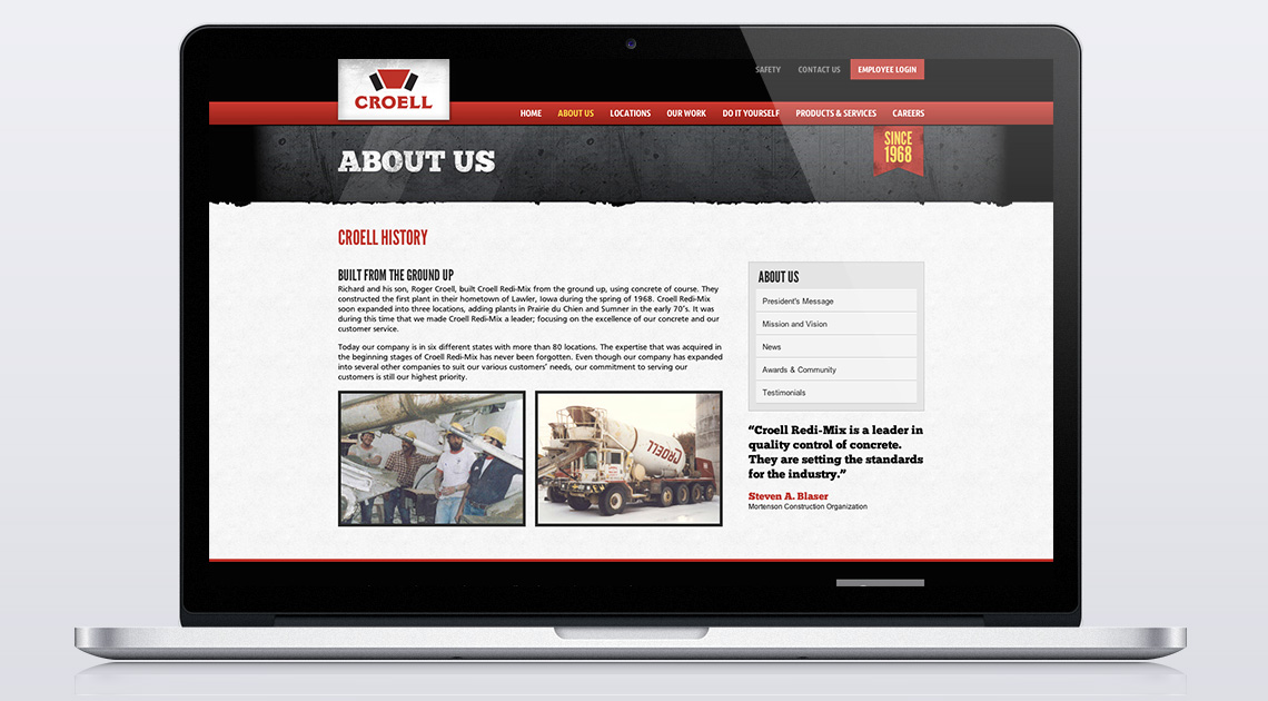 Croell Website - About