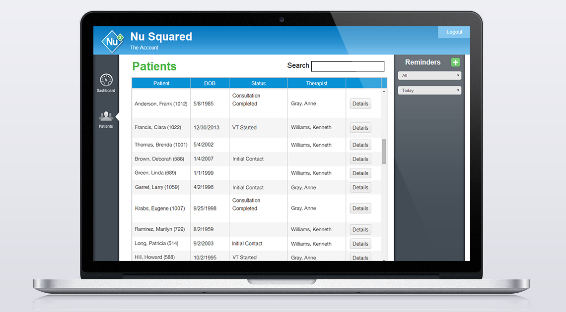 Nu Squared Software Patients