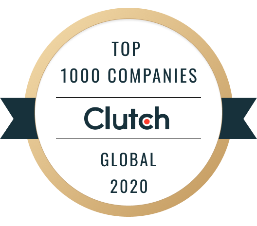 Top 1000 Companies Clutch Global 2020 Logo