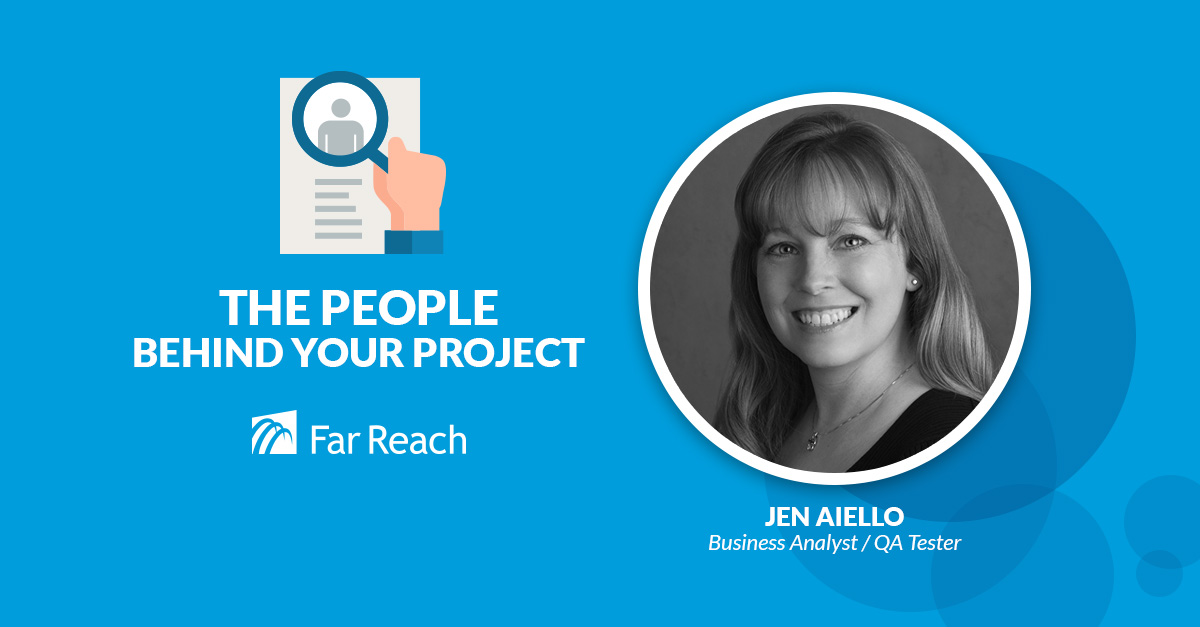 Jen Aiello Far Reach QA Tester