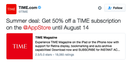 Time Magazine Twitter Card