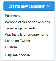 Create New Ad Campaign in Twitter