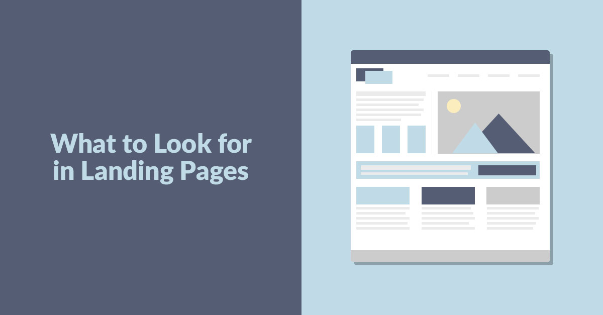 What To Look For In Landing Pages