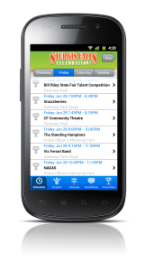 Sturgis Falls Mobile App: Events