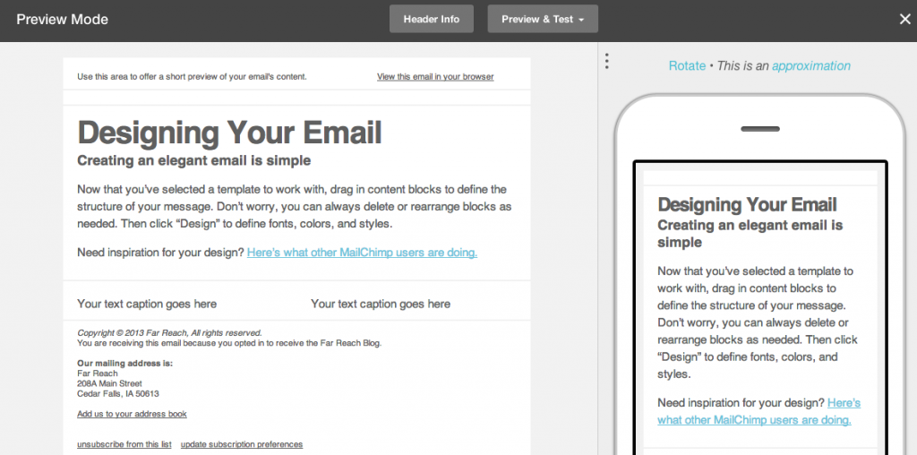 MailChimp Responsive Email Marketing
