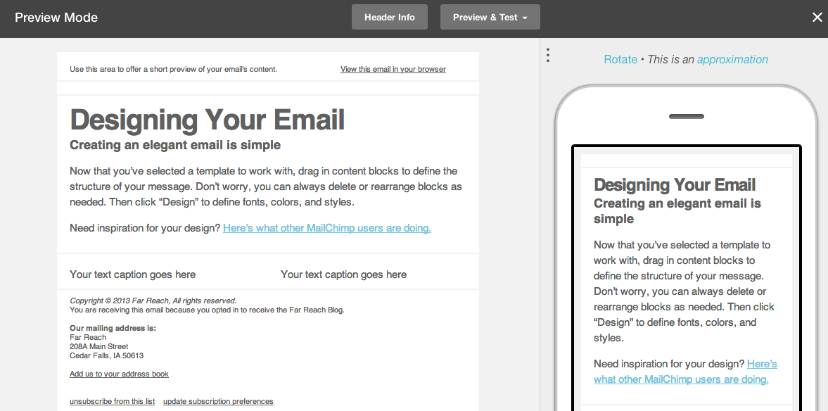 MailChimp Email Marketing System Gets A Makeover Far Reach Blog - Mailchimp template width