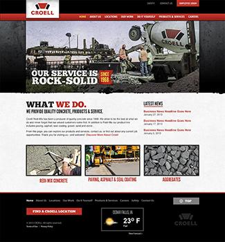 Croell Responsive Website
